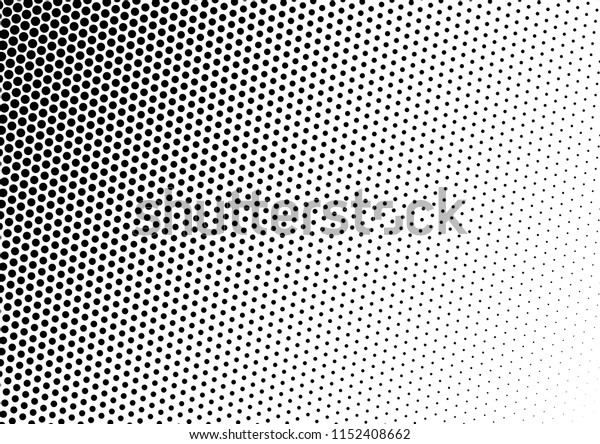 Dots Background. Fade Pattern. Points Monochrome Texture. Grunge Pop-art Backdrop. Vector illustration