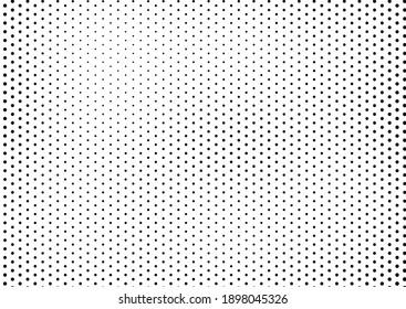 Dots Background. Fade Vintage Texture. Grunge Backdrop. Pop-art Monochrome Overlay. Vector illustration