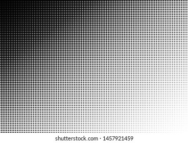 Dots Background. Gradient Halftone Pattern. Points Modern Texture. Distressed Overlay. Vector illustration