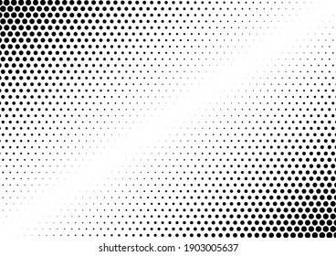Dots Background. Gradient Modern Backdrop. Fade Vintage Texture. Monochrome Pattern. Vector illustration