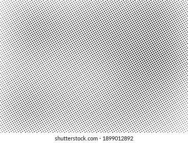 Dots Background. Grunge Pattern. Abstract Monochrome Overlay. Gradient Vintage Texture. Vector illustration