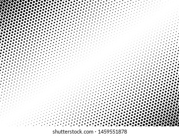 Dots Background. Grunge Points Backdrop. Distressed Vintage Pattern. Fade Monochrome Overlay. Vector illustration