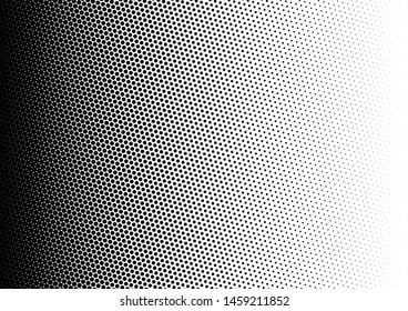 Dots Background. Grunge Pop-art Pattern. Gradient Points Overlay. Fade Abstract Texture. Vector illustration