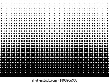Dots Background. Modern Gradient Texture. Abstract Monochrome Overlay. Points Pop-art Pattern. Vector illustration
