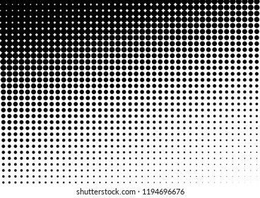 Dots Background. Monochrome Grunge Backdrop. Points Distressed Overlay. Halftone Texture. Vector illustration