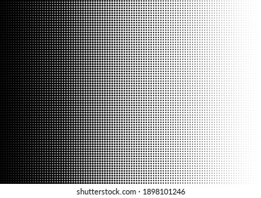 Dots Background. Vintage Black and White Texture. Abstract Overlay. Pop-art Points Pattern. Vector illustration