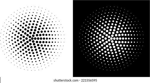 Dots circle - design element