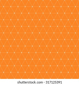 Dots connected with lines, seamless geometric background with triangles