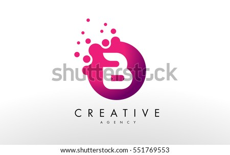 B Logo dots letter b logo b letter stock vector (royalty free) 551769553