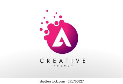 Dots Letter A Logo. A Letter Design Vector with Dots.