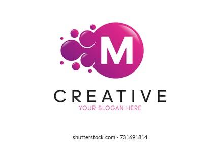 Dots Letter M Logo