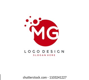 Dots Letter MG Logo Design Template