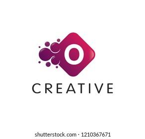 Dots Letter O Logo