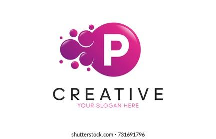 Dots Letter P Logo