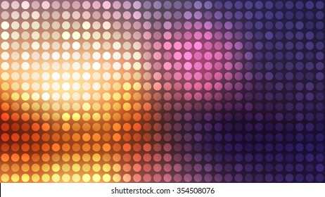 Dots pattern. Flashy circles background. Abstract blurry vector background.