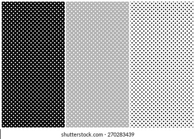 Dots pattern vector set