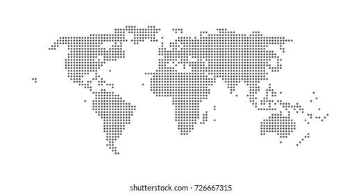 World map vector stylized images stock photos vectors shutterstock dots pattern world map design isolated on white eps 10 stock vector illustration gumiabroncs Image collections