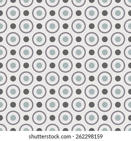 Dots seamless pattern. Grey background.