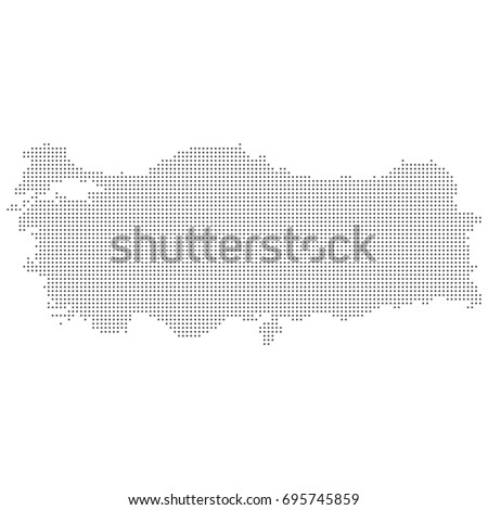 Dotted Abstract Turkey Map Vector Dot Stock Vector (Royalty Free ...