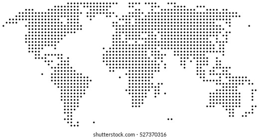 Dotted abstract world map