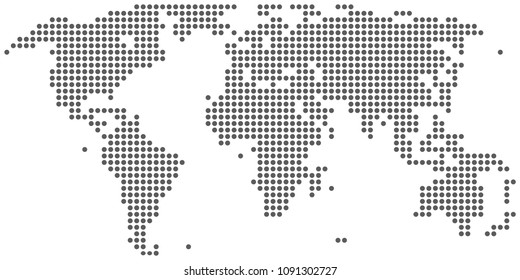Dotted abstract world map. vector eps10.