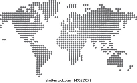 dotted blank black map vector