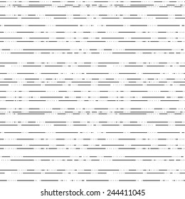 A dotted and dashed horizontal liner vector pattern