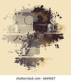 dotted grunge background,vector illustration