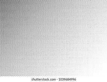 Dotted Halftone Background. Grunge Texture. Abstract Black and White Backdrop. Points Pattern. Vector illustration