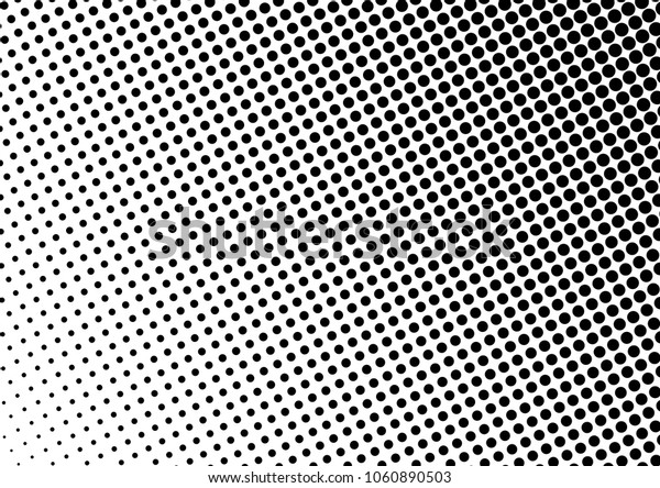 Dotted Halftone Background. Points Pattern. Grunge Abstract Overlay. Modern Black and White Texture. Vector illustration