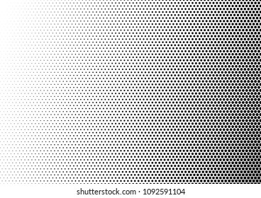 Dotted Halftone Background. Pop-art Overlay. Monochrome Black and White Pattern. Gradient Abstract Backdrop. Vector illustration