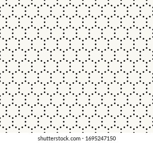 Dotted hexagonal grid pattern, monochromatic honeycomb background