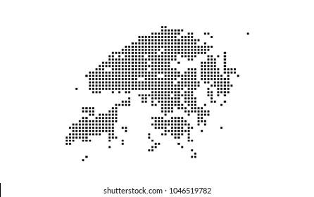 Dotted hongkong map