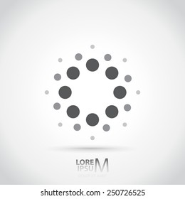 Dotted icon logotype template background