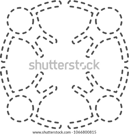 Dotted Line Circle People Stock Vector (Royalty Free) 1066800815