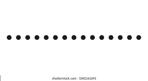 Dotted line simple shape vector