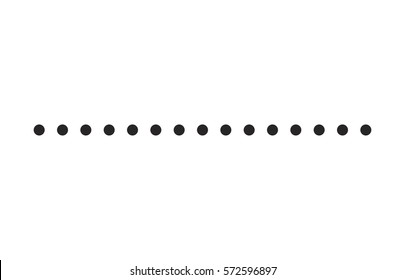 dotted line simple shape vector symbol icon design.
