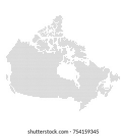 Dotted map of Canada. Vector eps10