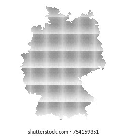 Dotted map of Germany. Vector eps10