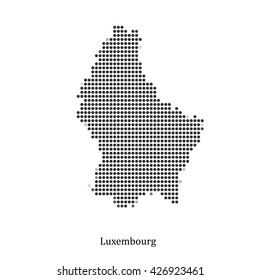 Dotted map of Luxembourg for your design, concept Illustration.