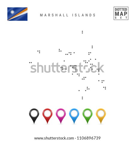 Dotted Map Marshall Islands Simple Silhouette Stock Vector (Royalty ...