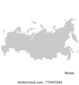 Dotted map of Russia. Vectoreps10.