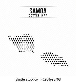 Dotted Map of Samoa Stylish Design