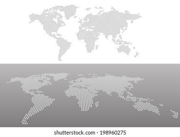 Dotted maps in perspective view