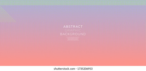 Dotted pixel style effect gradient color background. Retro futurism modern cover design. Eps10 vector illustration