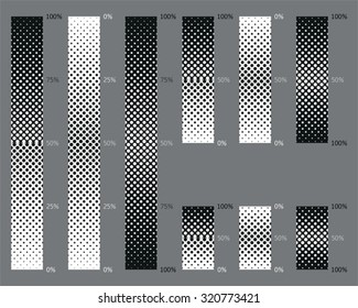 Dotted, seamless and precise gradient background patterns for eps8 vector images