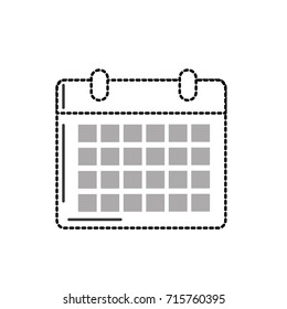 dotted shape calendar to organizar important events