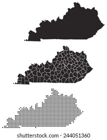 Dotted and Silhouette kentucky map