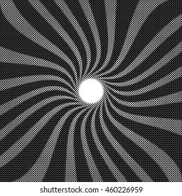 Dotted spiral vector illustration.