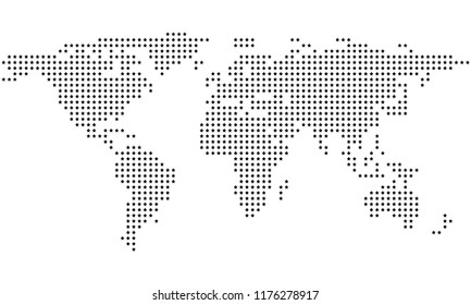 Dotted stars abstract world map